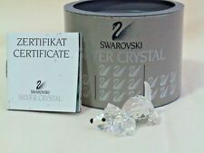 Swarovski Lead Crystal. Puppy. 7619 000 004. Frosted Tail. 45mm long. Mint Boxed