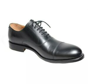 Lotus of England Men's Shoe Lace Up Black Full Grain Leather 9.5