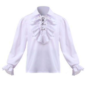 Blessume Medieval Boys Shirt with Jabot Poet Pirate Renaissance Colonial Shirt