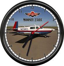 Mooney 231 EC  Aircraft Pilot Airplane Flying Personal Aircraft Sign Wall Clock