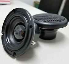 "2"" inch Full Range Speaker PAIR (2 pcs) 60Wmax AL grill Neodymium w 3M VHB Tape"