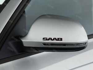 3 x Saab Stickers for Mirror Cover 9-3 9-5 Griffin Aero 9-7x 900 9000 Black