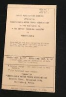 Pennsylvania Motor Truck assoc. Postcard , Harrisburg , Pa 1947