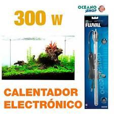 Calentador Electrónico Sumergible Fluval M 300W alta calidad acuario gambario