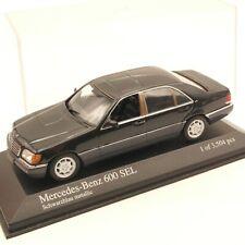 Minichamps 1:43 400035400 Mercedes Benz 600 SEL (W140) schwarz in PC-Box EZ798