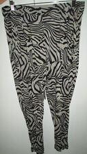 Ladies Just Jeans Size L Harem Pants Elastic Waist Baggy Leg Pant Animal Print