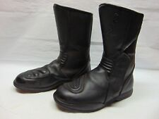 ALPINESTARS Racing Ahead Motorcycle Cycle Men's Black Leather Boots Size 8 / 42