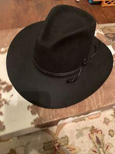 Vtg Resistol 4X Western Cowboy Hat Size 7 1-8 Chaparral Black Original Box