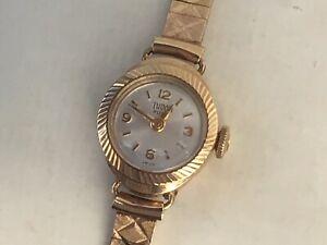 Rolex Tudor Ladies 9ct Gold Watch & 9ct Gold Bracelet 1963, Working, Small Wrist