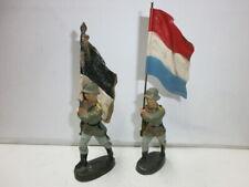 Convolute 5 Old Elastolin Plastic Figures Blanks Military Horses Zu 3in