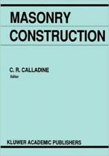 Masonry Construction: Structural Mechanics And Other Aspects