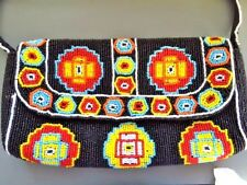 La Regale-Famous Italian Designer-Inspired Aztec/Tribal Multicolor Beaded Clutch