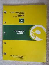 John Deere 9100, 9200, 9300, & 9400 Tractor Operators Manual