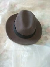 Country Gentleman dick tracy Halloween  Felt Fedora Hat -100 % Wool -