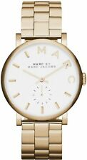NEW MARC BY MARC JACOBS 28MM LADIES WATCH MINI BAKER GOLD TONE S/STEEL MBM3247
