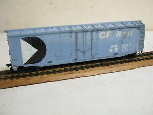 "BACHMANN HO "" C. P. RAIL ""  50' WEATHERED BLUE BOXCAR-NICE!"
