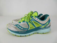 Womens Saucony Triumph Iso 3 Series Womens Running Shoes White/Teal Size 8.5