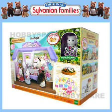 SYLVANIAN FAMILIES BOUTIQUE SHOP HOUSE w PERSIAN CAT MOTHER READY TO PLAY 5234