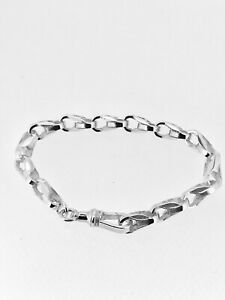 TULIP BRACELET PLAIN in Sterling Silver by J HERRON 9 INCHES ( 23 CMS approx)