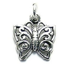 925 Sterling Silver Pretty Butterfly Charm