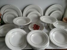 Golden Embrace by Gibson Designs - 3 Pc Place Setting Service for 8 - 24 pc lot