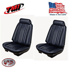 1969 Chevelle Coupe Black Bucket Seat/Rear Bench Upholstery by TMI - In Stock!!