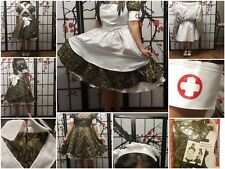 """Army Grace Maid Cosplay Costume(B30""""-34""""~W22""""-27""""~H34""""-37"""")