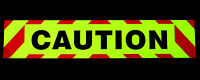 CAUTION Fluorescent Magnetic Warning Sign