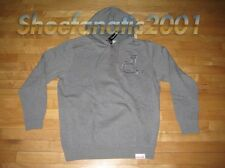 Diamond Supply Co Un-Polo Henley Hoody Charcoal Cassie Jetlife Large L Fairfax