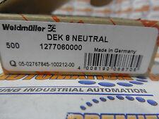 weidmuller, 1277060000, DEK 8 NEUTRAL, BLANK 10/BX