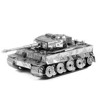 Fascinations Metal Earth German Tiger I Tank 3D Laser Cut Steel Puzzle Model Kit
