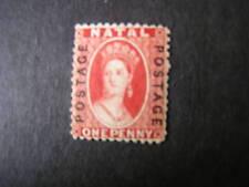 "NATAL, SCOTT # 38, 1p. VALUE RED, OVERPRINT ""POSTAGE"" QV. 1870-73 MH"