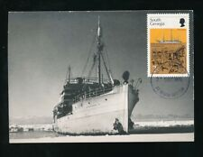 FALKLAND ISLANDS SOUTH GEORGIA 1976 SHIP DISCOVERY MAXIMUM CARD FDC 2p
