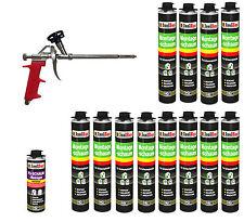 SET Pistolenschaum 12 x 750 ml + 1  Metall Schaumpistole + 1 Reiniger Bauschaum.