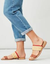 Joules Womens Harlston Two Strap Leather Sandal - Tan
