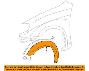 Pontiac GM OEM 03-08 Vibe-Front Fender Flare Wheel Well Molding Right 88973240