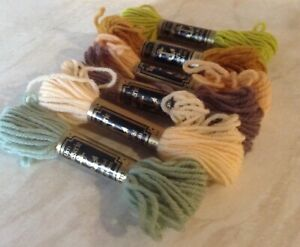 SIX ANCHOR TAPESTRY WOOL SKEINS
