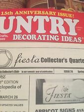 Fiesta Pottery Vintage Collectors Two magazines with Fiesta in them Collectors