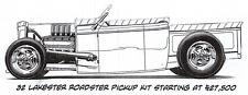 32 Ford Lakester Roadster Pickup Steel Body Kit Brookville Roadster Shadow Rods