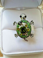 Turtle Rings baby spinner turtle on top RED GREEN PINK CLEAR BLUE PURPLE adjust
