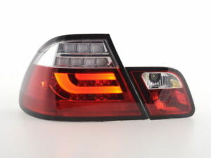 Red clear finish LED lightbar tail rear lights FOR BMW 3 series E46 coupe 03-07