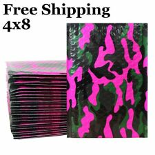1 500 000 4x8 Pink Camo Color Camouflage Poly Bubble Mailers Fast Shipping