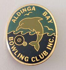 Aldinga Bay Bowling Club Badge Pin Dolphin Design Lawn Bowls Vintage (K2)