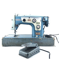 Vintage Dressmaker Deluxe Automatic Zig-Zag Sewing Machine W/ Foot Pedal