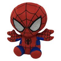 "TY Beanie Baby 6"" Spider-man Spiderman Marvel Plush Stuffed Animal Toy"