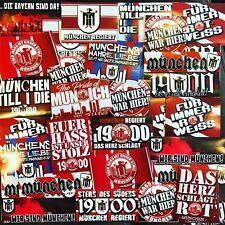 100 x  FC Bayern München Aufkleber Sticker Inspiriert von Schal Fahne Poster
