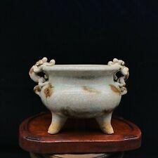 A Old Chinese Celadon Porcelain Longquan Incense Burner Censer Holder China