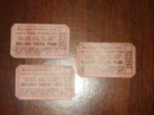3 Vtg Rolling Green Amusement Park Bachman Pretzel Day Tickets by Russ Fairchild