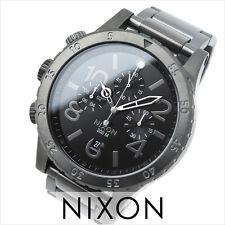 NEW NIXON 48-20 Chrono ALL GUNMETAL Watch A486-632 MEN