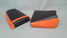 Suzuki SV Seat Cover Set SV650S 99-2002 2-TONE BLACK & ORANGE or 25 COLORS (ps)
